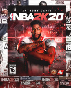 A collage of 2K sports games.