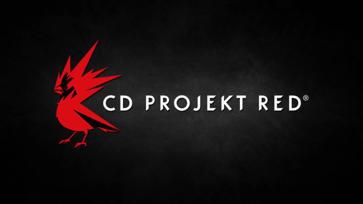CD PROJEKT RED logo red bird with spikes on black background