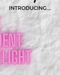KPOET's announcement reading: Introducing Poet Student Spotlight below pictures of spotlights