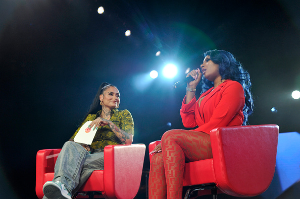 Image of Kehlani and Megan Thee Stallion talking about being women in music