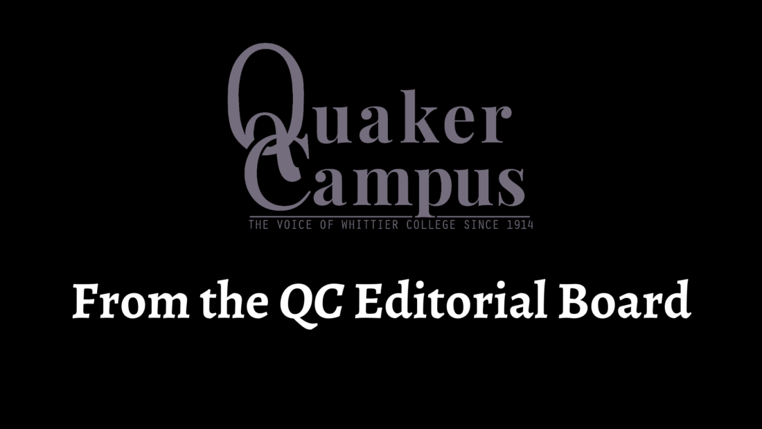 Quaker Campus logo with the words from the qc editorial board