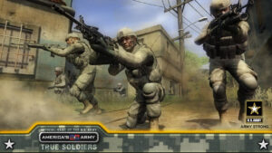 Image of the US military endorsing this game