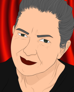 Drawing of Manohla Dargis